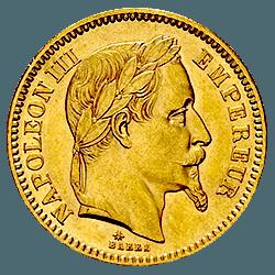 20 francs napoleon avers