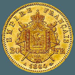 20 francs napoleon revers