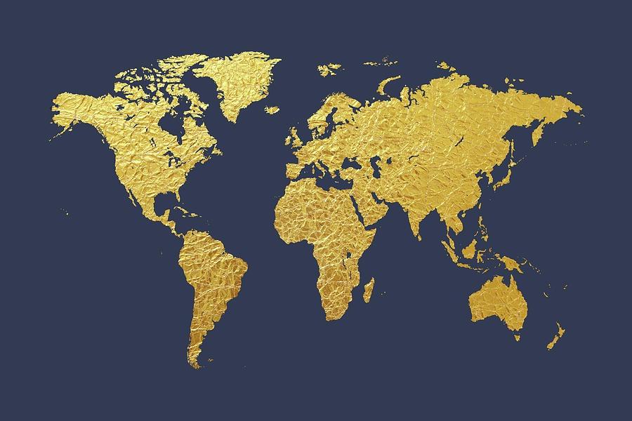 carte du monde or