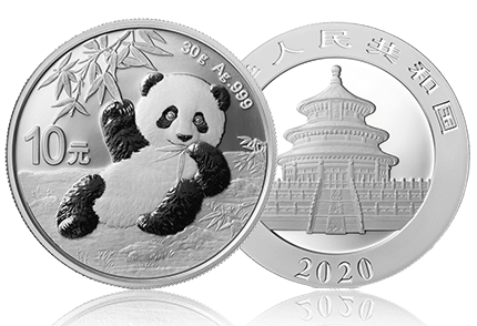 panda chinois 2020 argent coin