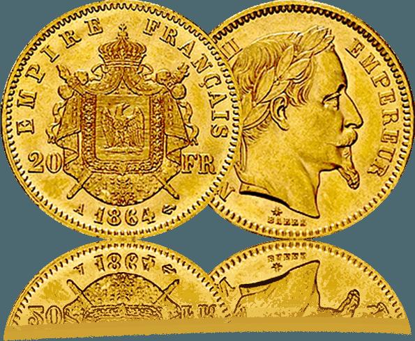 20 francs napoleon piece or orobel