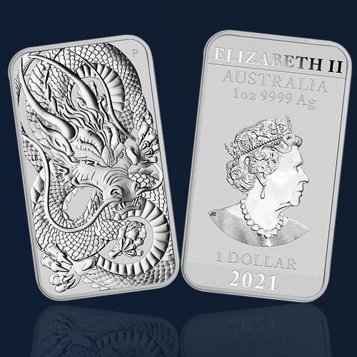 dragon 2021 once bar perth mint orobel silver argent
