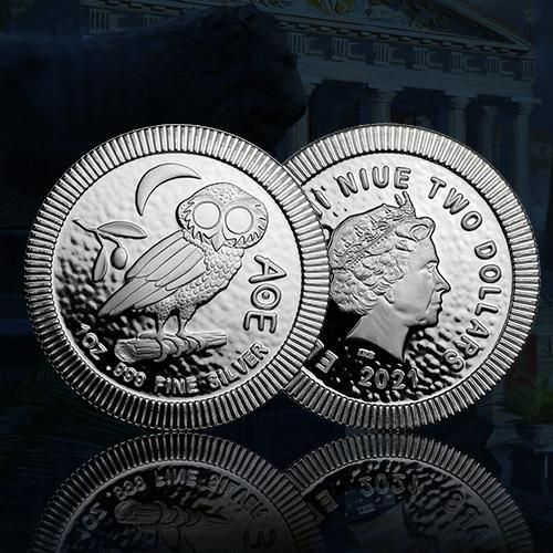 niue owl silver coin 2021 orobel