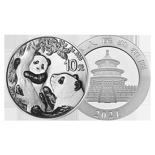 panda chinois argent silver 2021 orobel