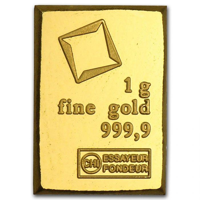 1 gram valcambi gold bar 1